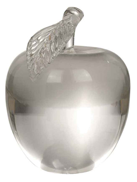 Clear crystal apple with leaf