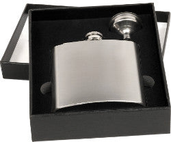 Stainless Steel Flask Set with Funnel