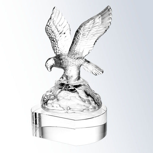 Soaring Eagle with clear crystal base