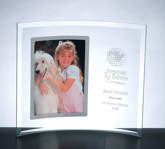 Curved Vertical Silver Frame – Academy Engraving