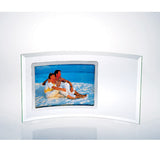 Curved Horizontal Silver Photo Frame
