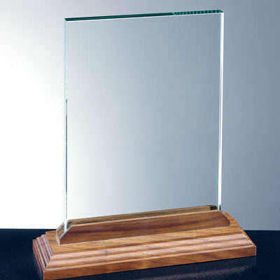 Vertical Rectangle with Beveled Walnut Base