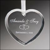 Heart Ornament with White Ribbon