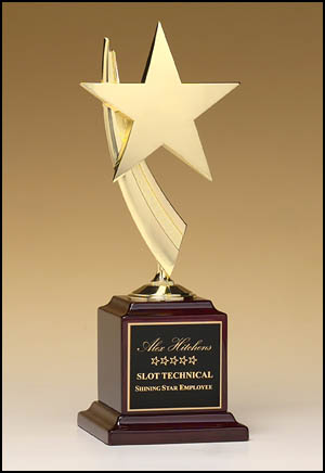 Star Award on rosewood base