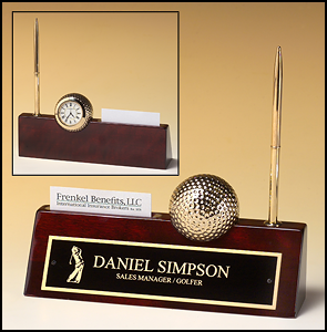 Golfball desk clock
