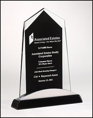 Apex Series Glass Award with black