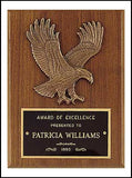 American walnut eagle plaque with straight edges