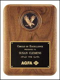 American Walnut Eagle Medallion Plaque