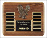 American Walnut Eagle Perpetual Plaque