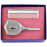 Girl's Embossed Brush and Comb Gift Set