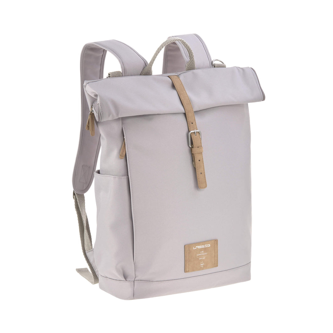Lässig - Rolltop Backpack Diaper Bag - Grey