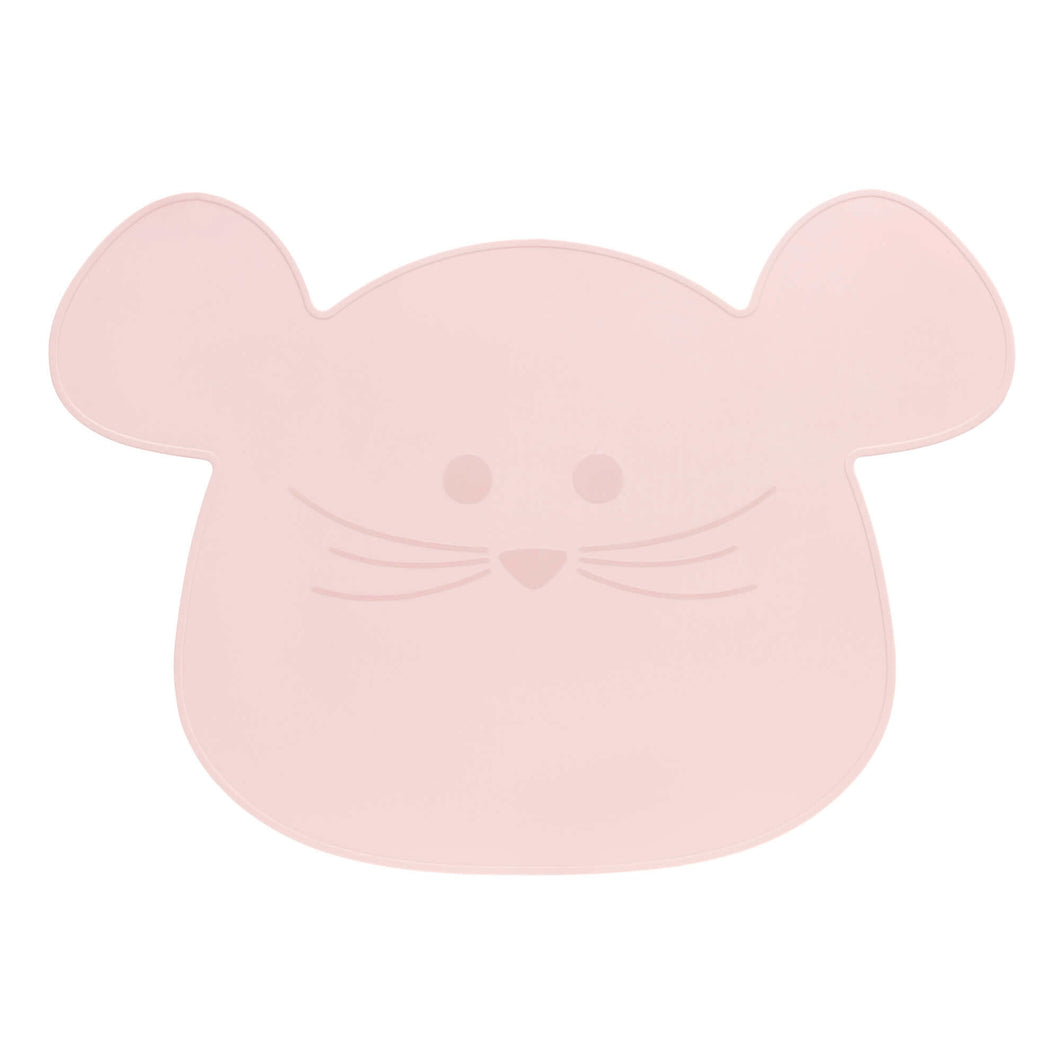 Lässig - Placemat Silicone Little Chums Mouse - Rose