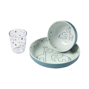 Done By Deer - Yummy mini dinner set - Dreamy dots - Blue