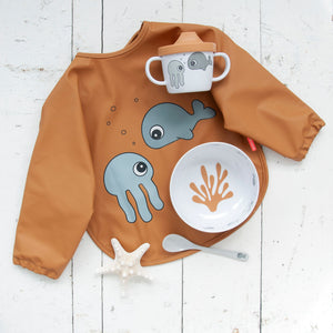 Done By Deer - First meal set Sea Friends - Mustard/Grey