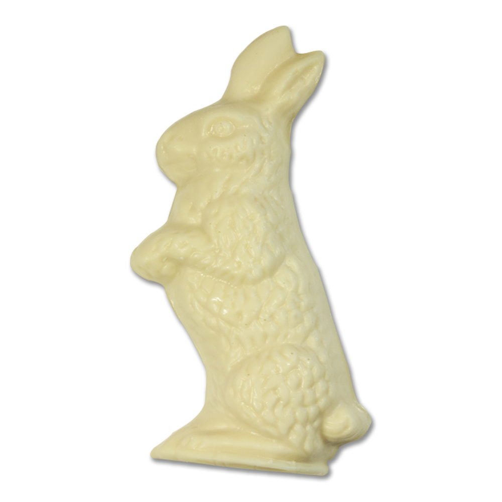 White Chocolate 2.5 oz. Flatback Rabbit