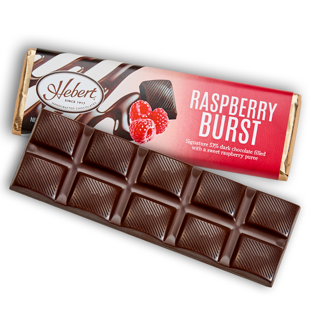 Raspberry Burst Dark Chocolate (2.15oz) 12 Bar Pack