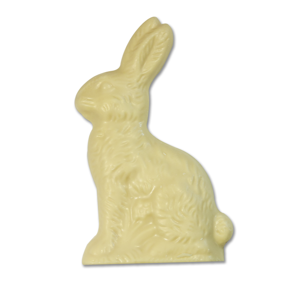 White Chocolate 4.25 oz. Flatback Rabbit