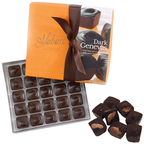 Genevas - 1/2 lbs. Dark Chocolate with Almonds