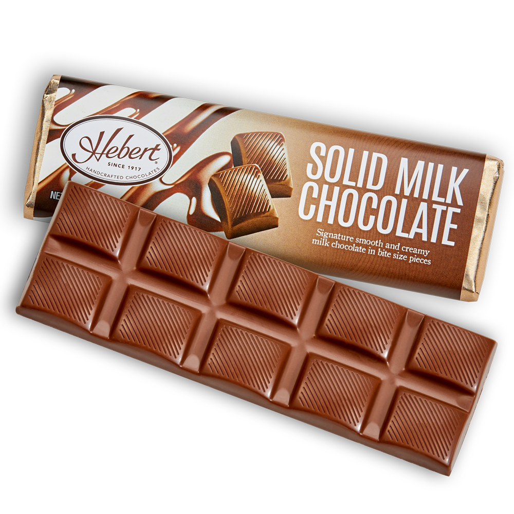 Solid Milk Chocolate (2.15oz) 12 Bar Pack