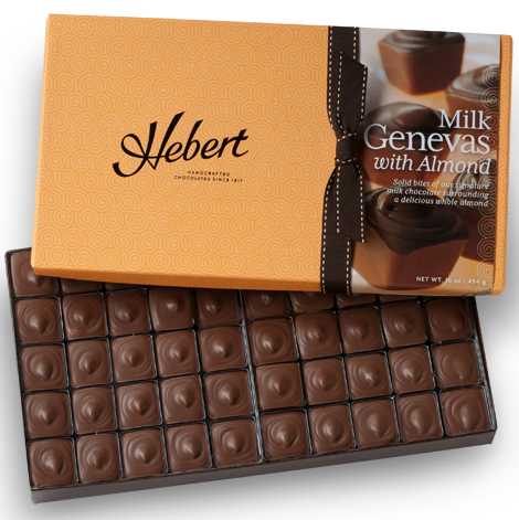 Genevas - 1 lbs. Milk Chocolate with Almonds