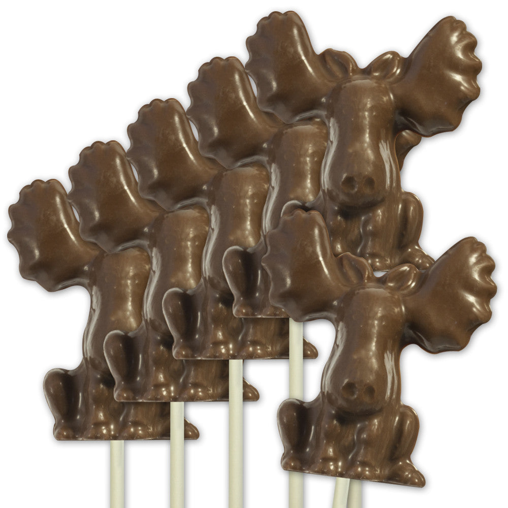 Milk Chocolate Moose Pop - Set of 6 - Hebert Candies