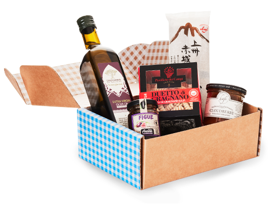 Your selection of the world's pantry essentials! Just fill out your Taste Profile and we send you a selection of incredible products from around the world that's perfectly customized to your preferences.