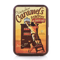 Salted Butter Caramels in a Small Tin