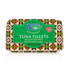 Tuna Fillets in Olive Oil With Onion and Laurel