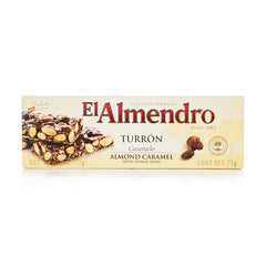 Almond Caramel Turron with Sesame Seeds