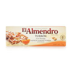 Crunchy Almond Turron with Orange