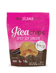 Spicy Soy Ginger Jicama Chips