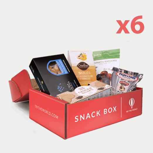 Snackbox 6 Box Gift Plan - 10 Snacks