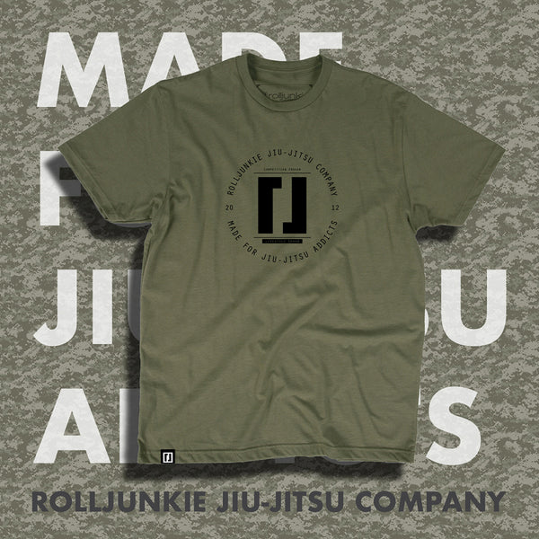 Military Green Debris BJJ Tee
