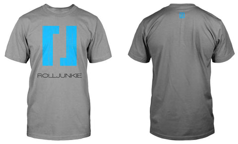 BJJ shirt with distressed Rolljunkie print