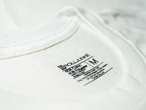 BJJ shirt inside label by Rolljunkie apparel