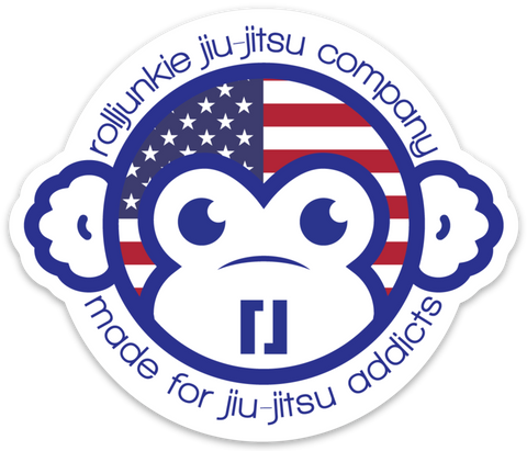 US Flag BJJ Sticker
