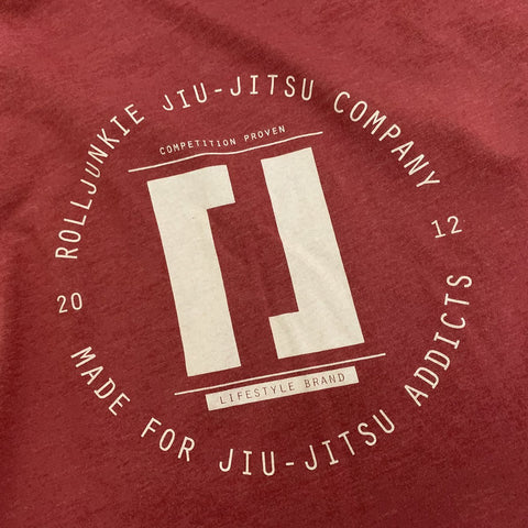 Debris jiu jitsu shirt red