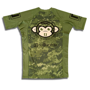 bjj rash guard dust off monkey
