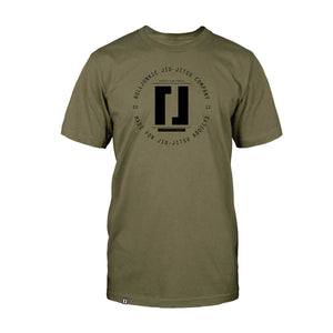 debris green bjj shirt
