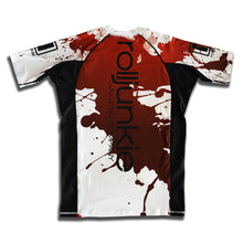 bjj rash guard blood splatter psycho