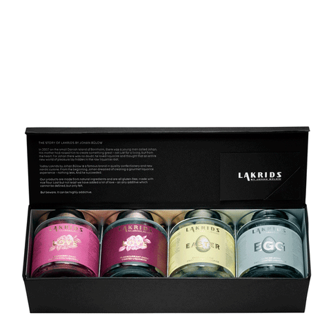 4 x Choc Coated Liquorice inkl. gaveæske – LOVE/EASTER Edition