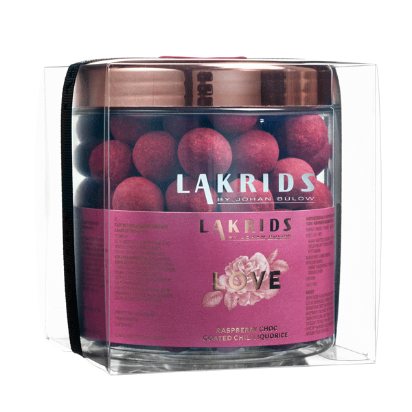 VERY BIG LOVE – Raspberry Choc Coated Chili Liquorice inkl. gaveemballage