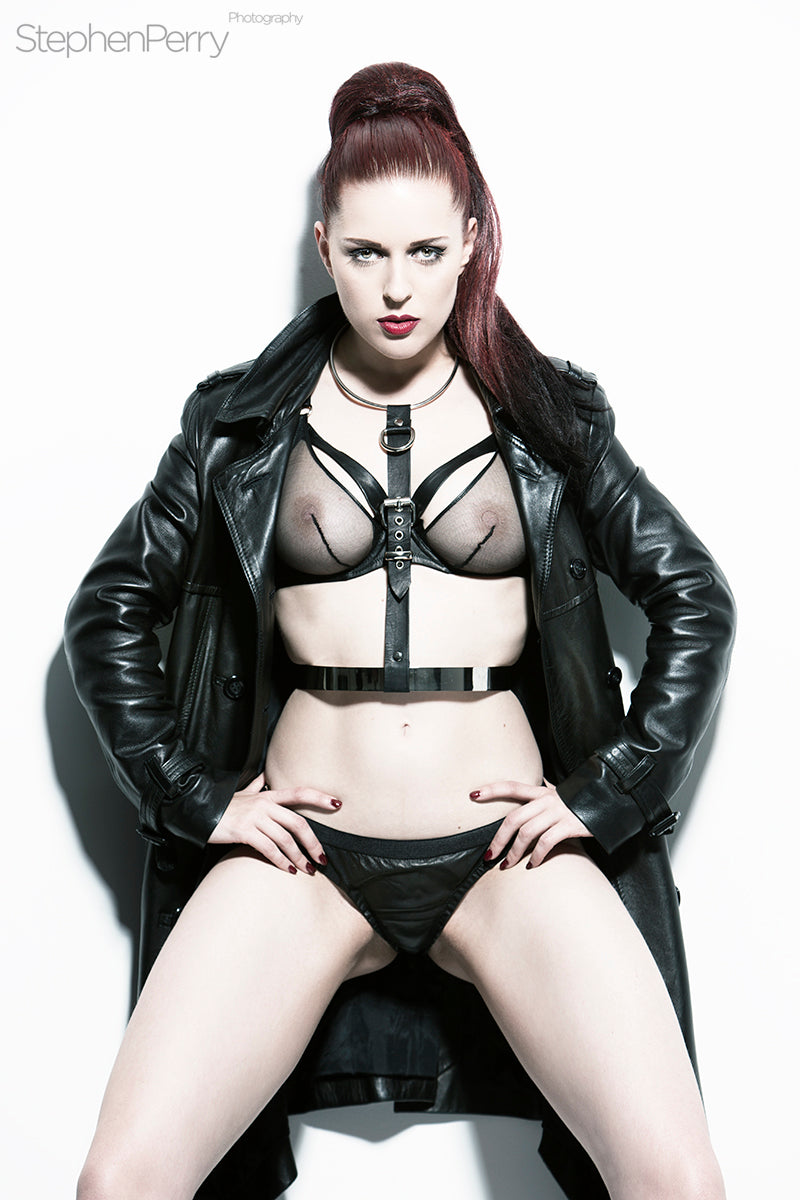 10d3a90027b Miss Fortune Leather and Steel Body Harness - Lux Tenebrae