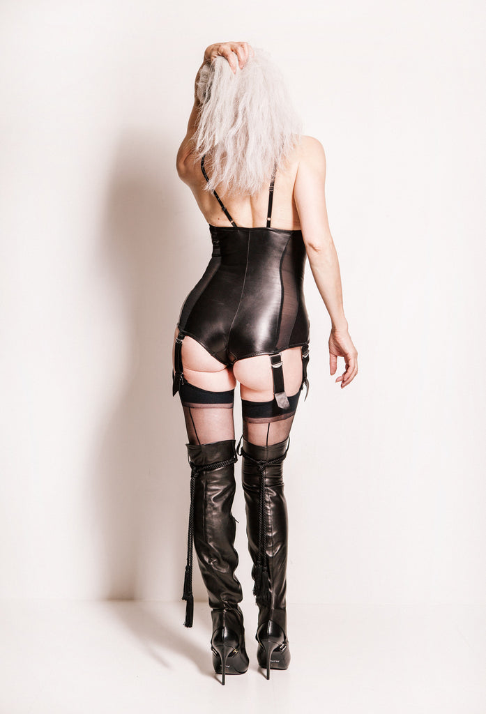 db239a350 Leather MissGVious Body - Bespoke Bodysuit leather lingerie for ...