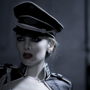Leather Military Cap