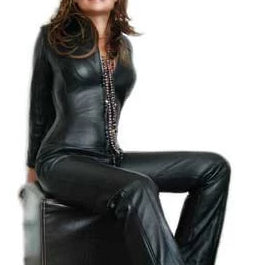 made to measure leather catsuit in black lambskin 6