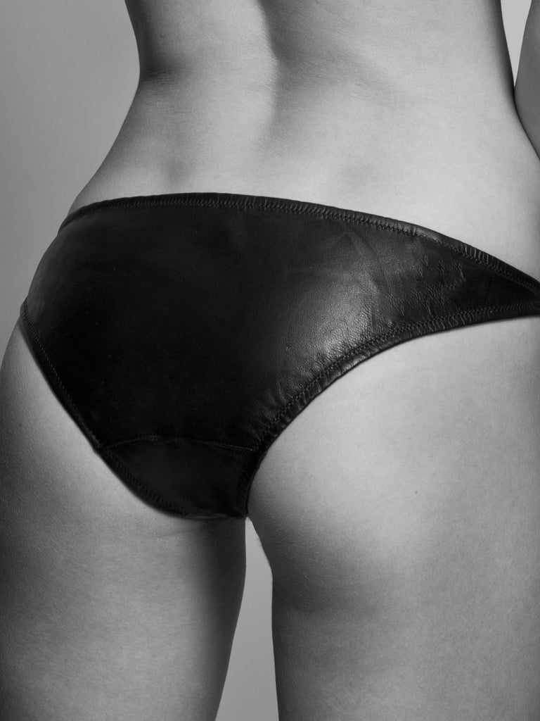 UltraLuxe luxurious leather women's briefs