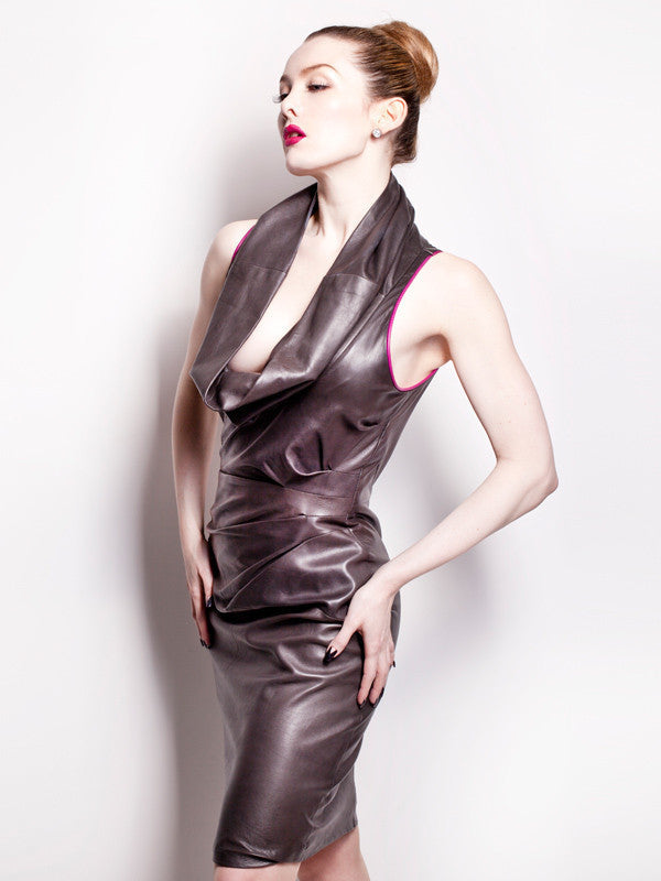 Martini leather dress