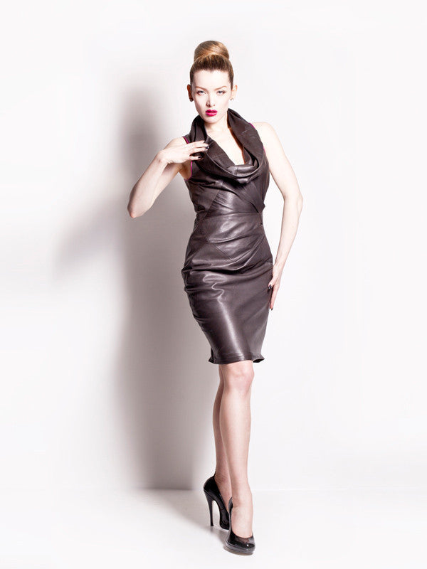 Bespoke leather dress
