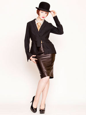 bespoke leather pencil skirt